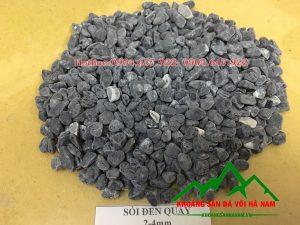 Thông số sản phẩm sỏi màu đen:  - Kích cỡ : 2-3mm, 2-4mm, 4-5mm, 5-7mm, 7-9mm  - Đóng bao: Bao 16kg, 20kg/bao, 50 kg/bao hoặc bao jumbo> 1 tấn
