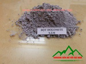 Thông số sản phẩm bột Dolomite Xám:  - Độ mịn : 70-90 micron  - Màu sắc: Xám  - Hàm lượng: MgO > 19%            : CaO ~ 32%  - Đóng bao: 25 kg/bao, 50 kg/bao hoặc bao jumbo> 1 tấn