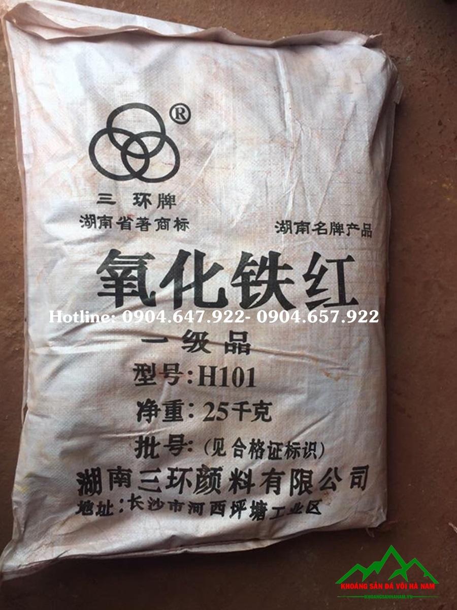 bột màu oxit sắt đỏ h101
