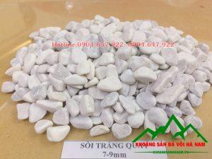 Thông số sản phẩm sỏi trắng mini:  - Kích cỡ : 2-3mm, 2-4mm, 4-5mm, 5-7mm, 7-9mm  - Đóng bao: Bao 16kg, 20kg/bao, 50 kg/bao hoặc bao jumbo> 1 tấn