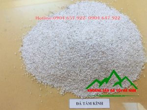 Thông số sản phẩm đá hạt tấm kính :  - Kích cỡ : 0.3-0.8mm  - Độ trắng: 88-90%  - Hàm lượng CaCO3: 95-97%