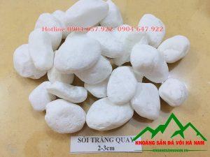 Thông số sản phẩm sỏi trắng tròn:  - Kích cỡ :2-3 cm  - Đóng bao: Bao 16kg, 20kg/bao, 50 kg/bao hoặc bao jumbo> 1 tấn