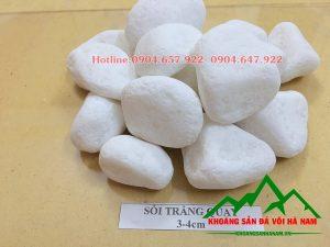 Thông số sản phẩm sỏi trắng tròn:  - Kích cỡ : 3-4 cm  - Đóng bao: Bao 16kg, 20kg/bao, 50 kg/bao hoặc bao jumbo> 1 tấn