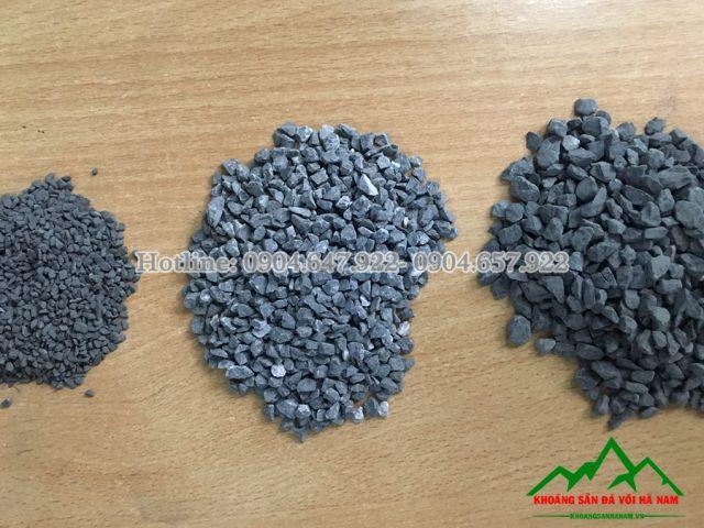 đá hạt đen làm gạch hè đường