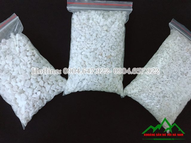 đá hạt trắng làm gạch hè đường