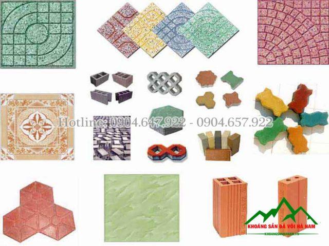 nguyên liệu sản xuất gạch vỉa hè