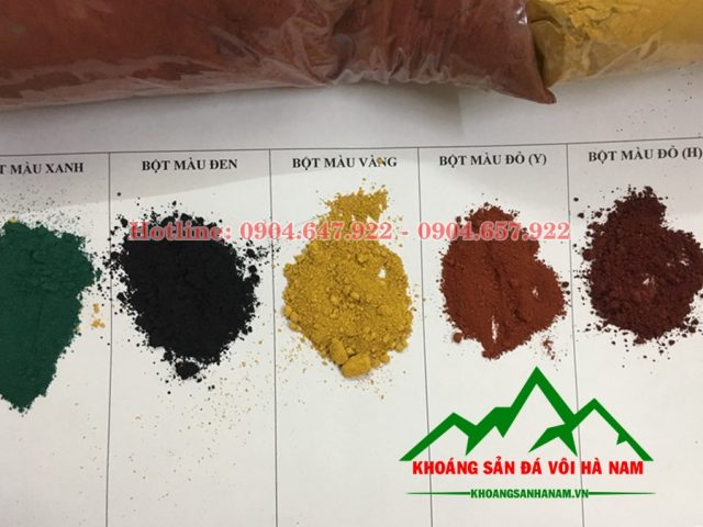 bột màu sản xuất gạch vỉa hè