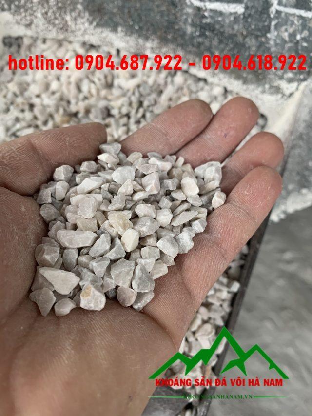 đá hạt trắng sản xuất gạch