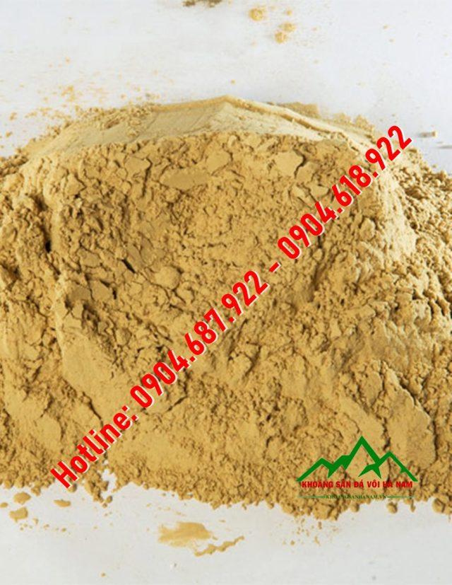 bột bentonite vàng nhạt