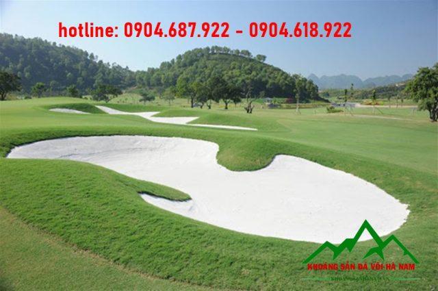 bể cát thạch anh trắng tại sân golf