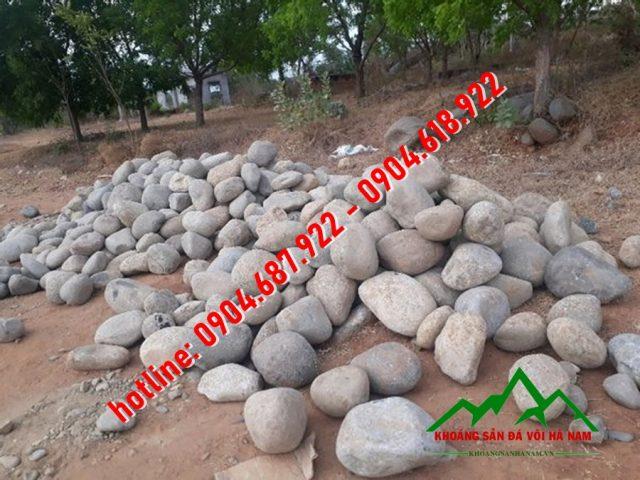 khai thác đá cuội