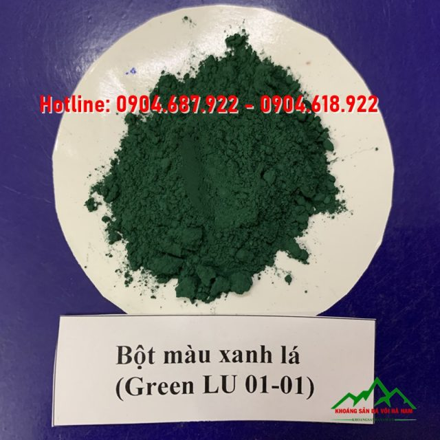 Bột màu oxit sắt xanh lá cây