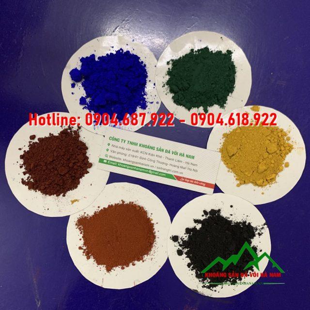 bột màu sản xuất cao su