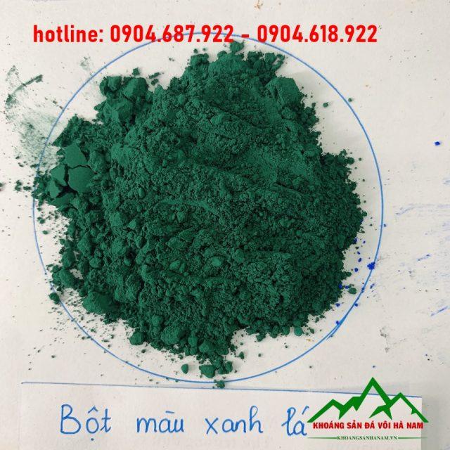 bột oxit sắt màu xanh lá cây sản xuất cao su