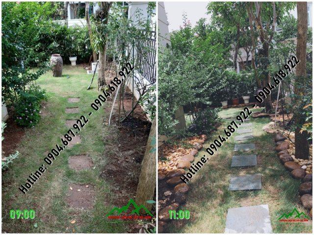 kết quả sau khi tráng trí sân vườn