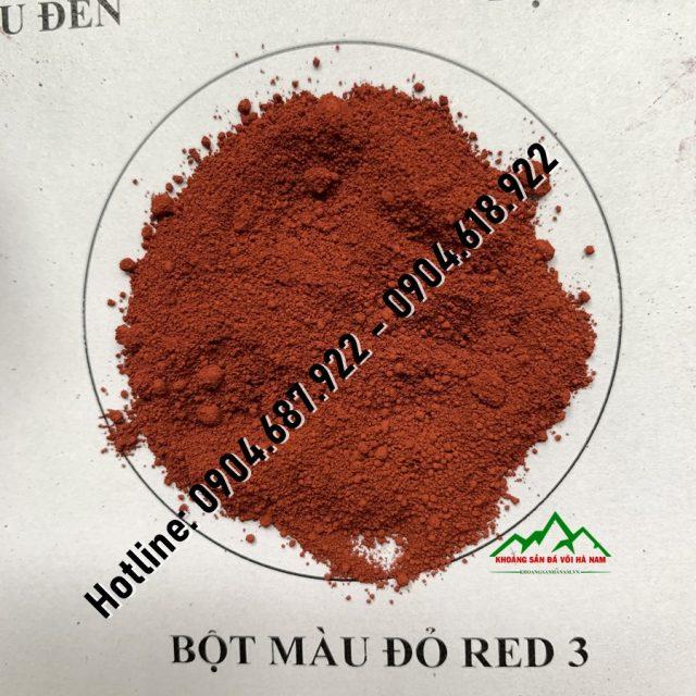 bột màu đỏ red 3