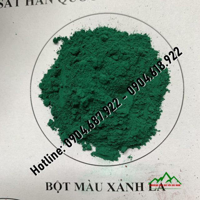 bột màu hàn quốc xanh lá cây