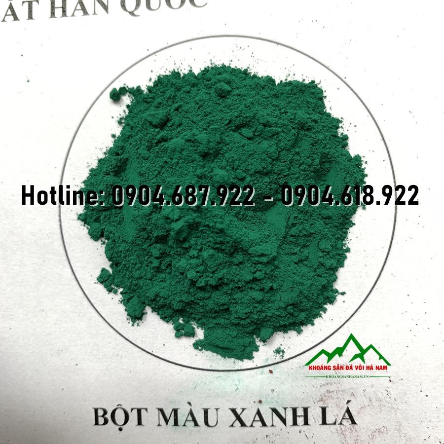 bột màu oxit xanh lá cây