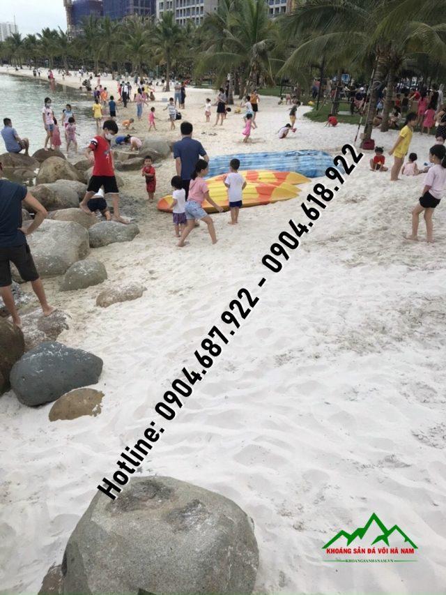 cát làm bãi biển nhân tạo