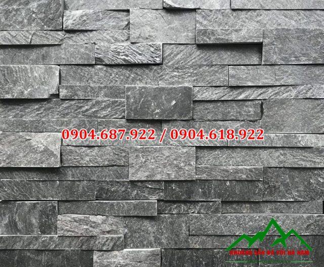 đá ghép đen ốp tường