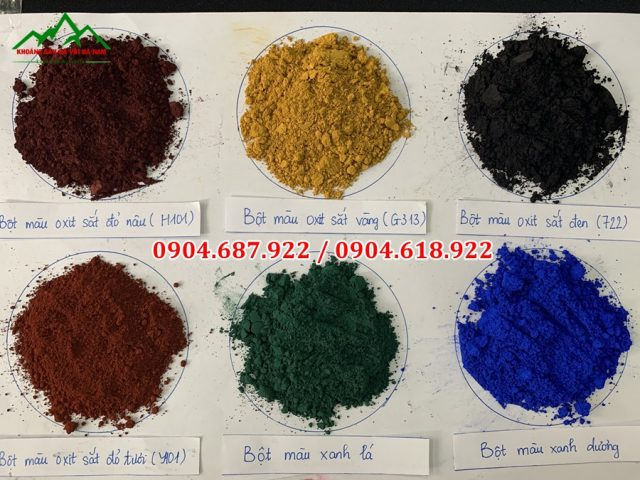 bột màu oxit sắt
