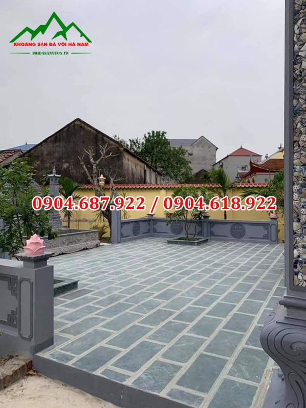 đá tự nhiên lát sân chùa