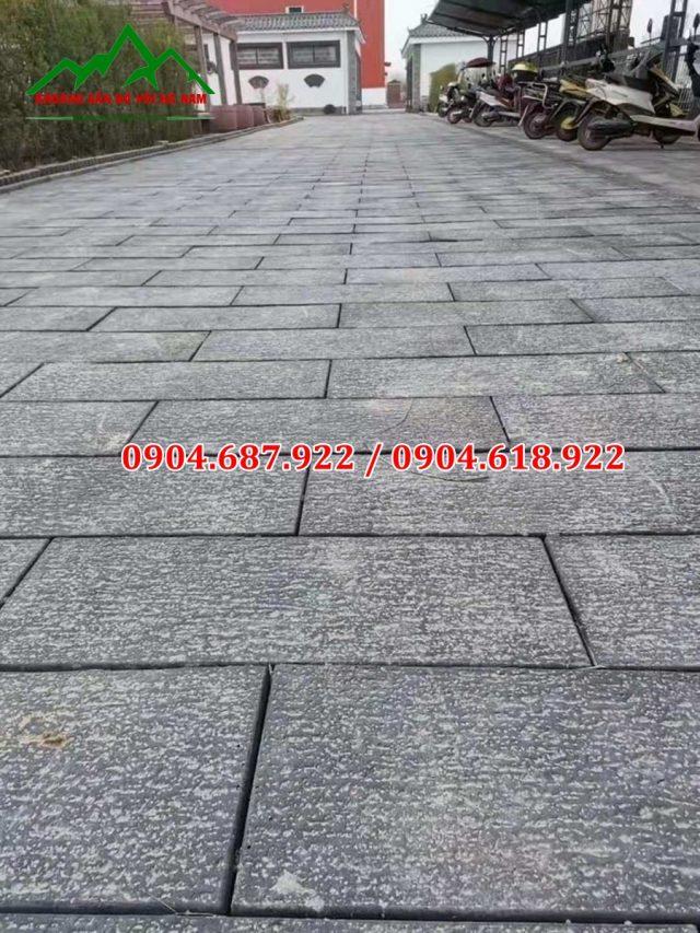 bột đá đen sản xuất gạch vỉa hè
