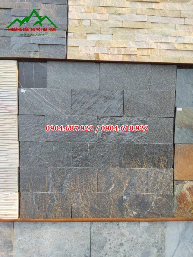 đá slate đen ốp tường