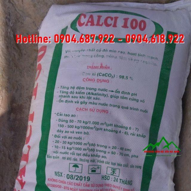 bột đá vôi CaCO3 thủy sản