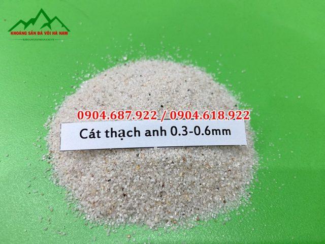 cát thạch anh 0.3 - 0.6mm